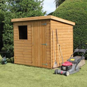 7' x 5' (2.14x1.52m) Traditional Standard Pent Shed
