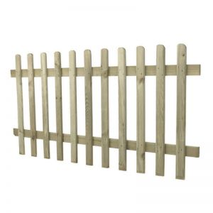 3ft (0.9m) High Pressure Treated Pale Picket Fence Panel