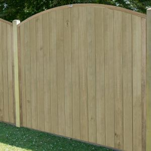 6'x6' (1.8x1.8m) Fence-Plus Domed Top Tongue and Groove Fence Panel