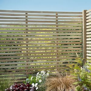 1.8m High Forest Slatted Panel