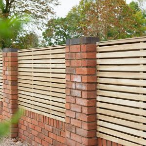 Forest 6' x 4' Pressure Treated Contemporary Double Slatted Fence Panel (1.8m x 1.2m)