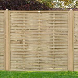 Forest 6'x6' Pressure Treated Woven Fence  Panel (1.8m x 1.81m)