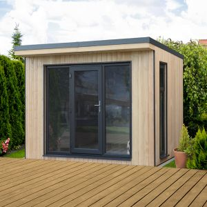 Forest Xtend 3 Insulated Garden Office 2.98m x 2.9m (97mm) 9'9 x 9'6