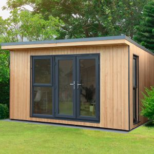 Forest Xtend 4+ Insulated Garden Office 4.05m x 3.42m (97mm) 13'3 x 11'3