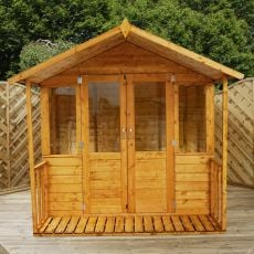 8' x 7' Windsor Traditional Wooden Summerhouse with Veranda