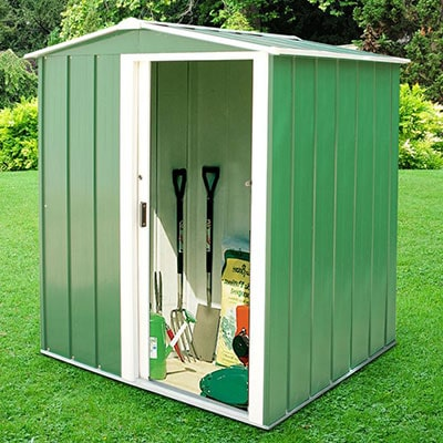 5x4 Green Metal Shed by Sapphire