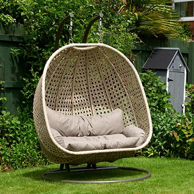 Glendale Bayeux Double Hanging Rattan Chair