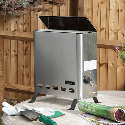 a stainless steel greenhouse heater