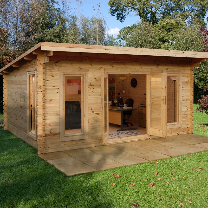 The Forest Mendip Log Cabin Office Exterior Photo