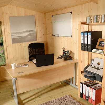 Log Cabin Home Office in the Garden