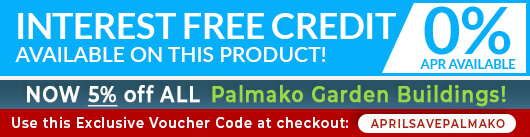 Interest Free Credit and 5 percent off Palmako Buildings