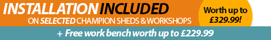 Installation Included and Free Workbench