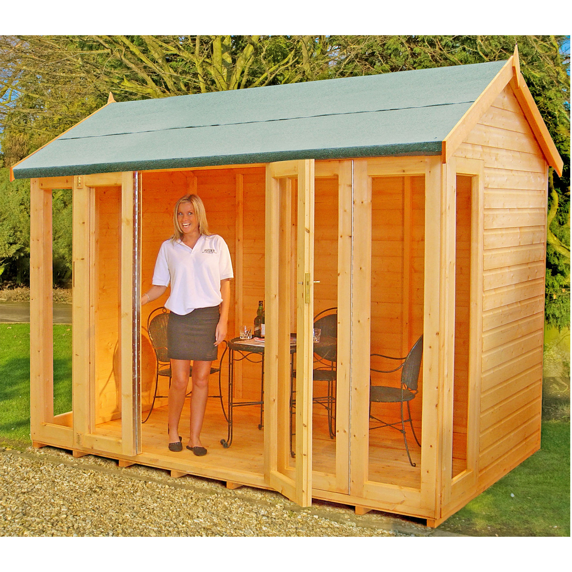 Image of 10'3 x 6'5 (3.1x1.9m) Shire Blenheim Wooden Summerhouse