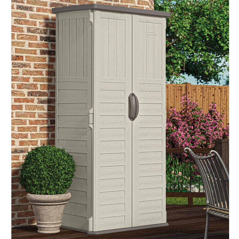 Image of 3' x 2' (0.82 x 0.65m) Suncast New Mannington Large Plastic Garden Storage