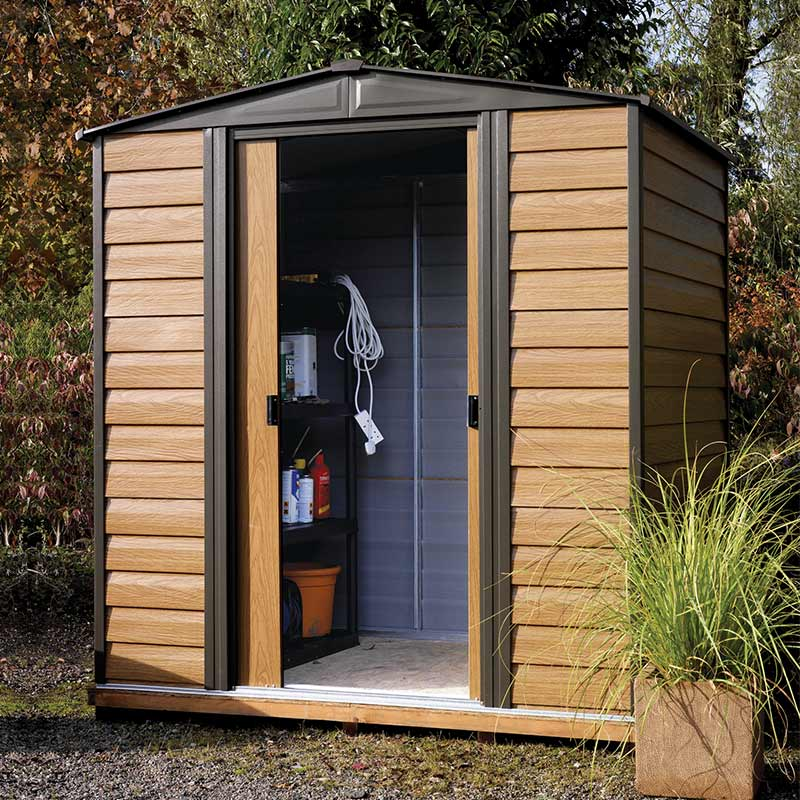 Image of 10'3 x 8' Arrow Woodvale Garden Metal Storage Shed (3.13x2.42m)