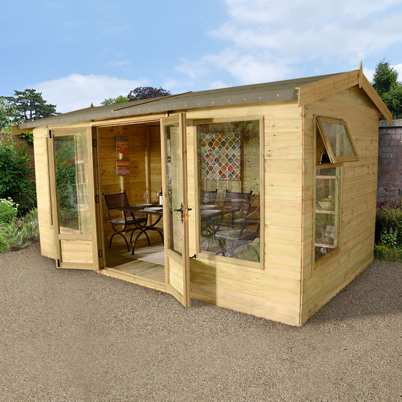 Image of 12' x 10' (3.6x3m) Champion Harvington Contemporary Summerhouse - Garden Room