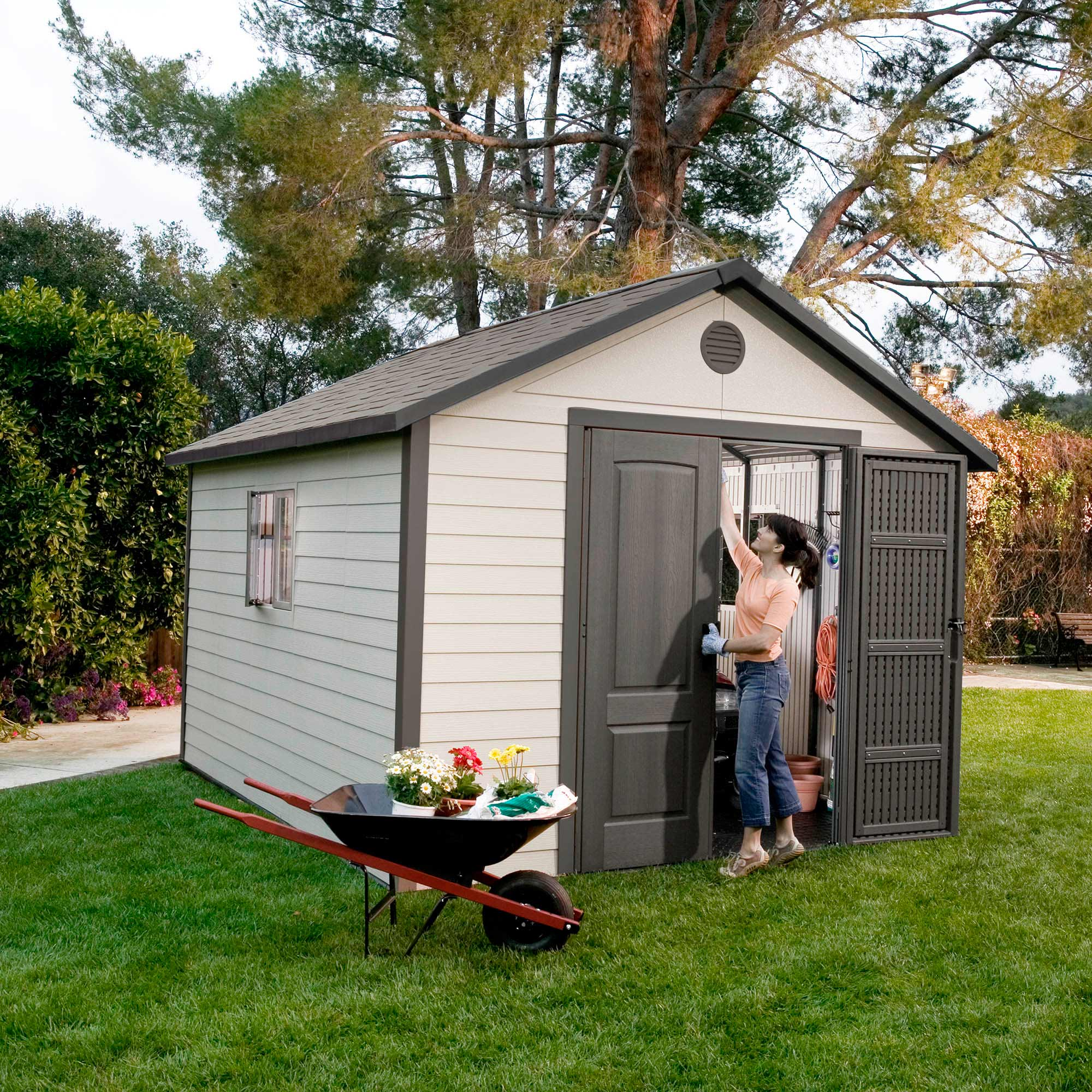 Image of 11' x 11' Lifetime Heavy Duty Plastic Shed (3.16m x 3.16m)
