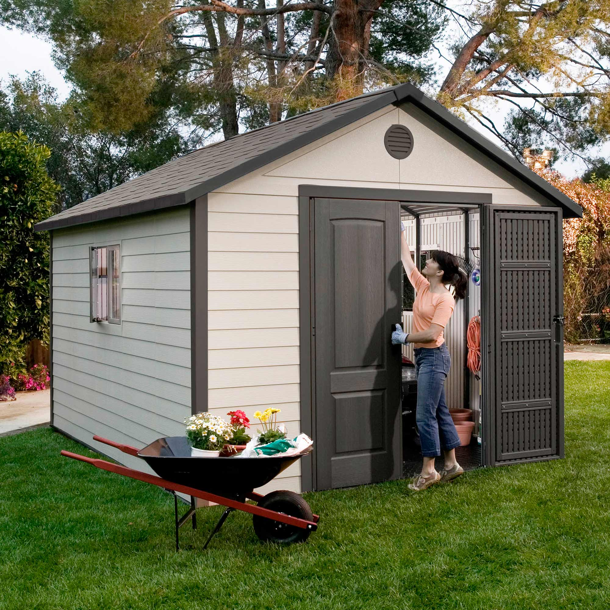 Image of 11' x 16' Lifetime Heavy Duty Plastic Shed (3.16m x 4.68m)