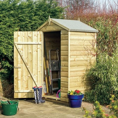 Image of 4' x 3' Rowlinson Oxford Wooden Garden Storage Shed (1.3m x 0.94m)