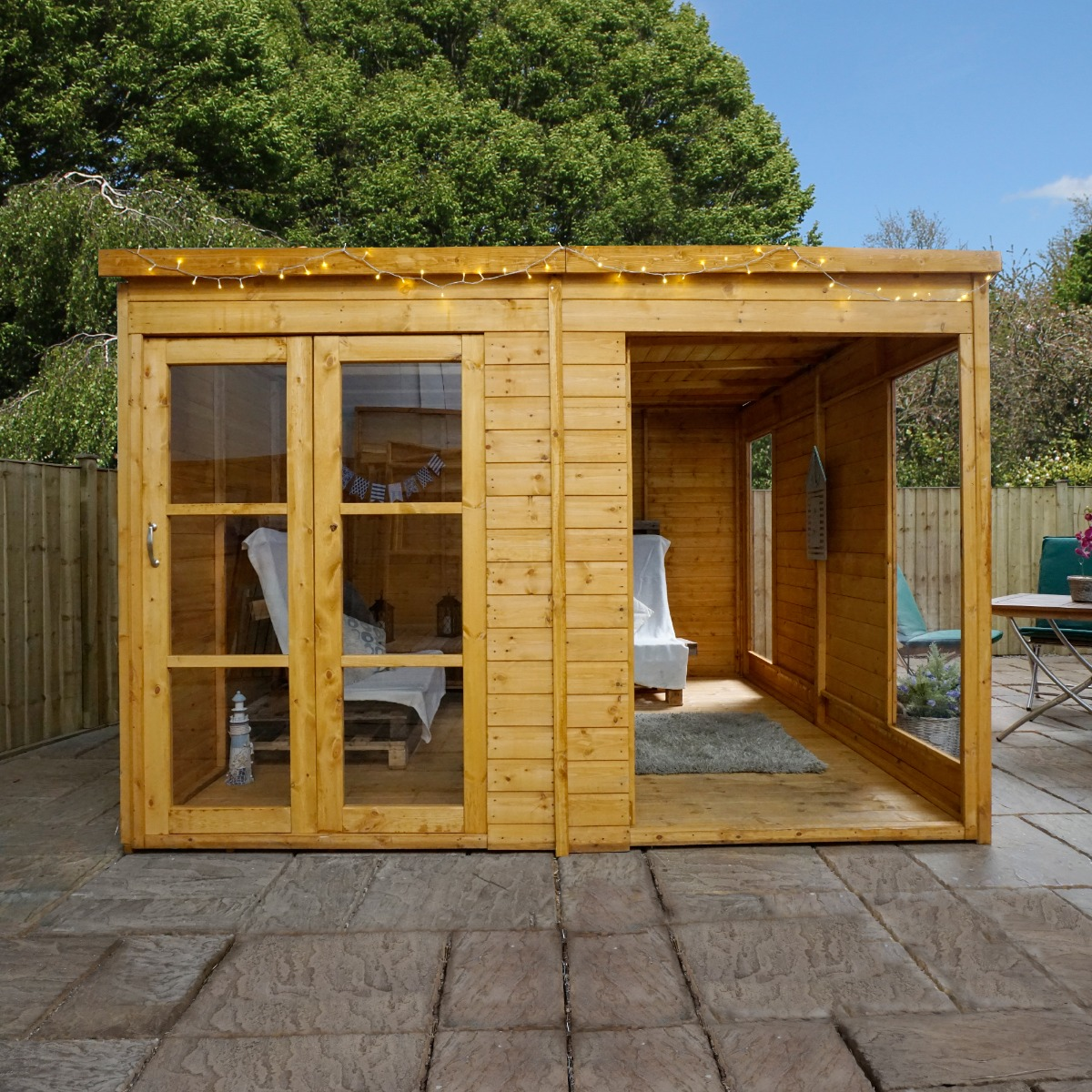 Image of 10' x 10' (3.06x3.06m) Windsor Wooden Garden Room - Pool House