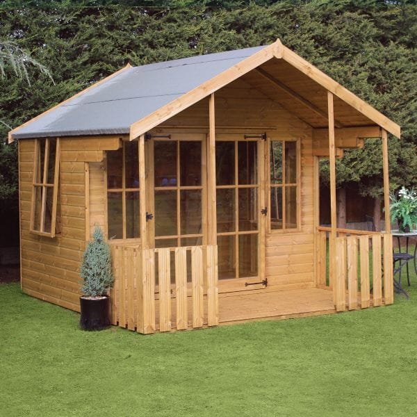 Image of 10' x 10' (3.05x3.05m) Traditional Woodstock Wooden Summerhouse