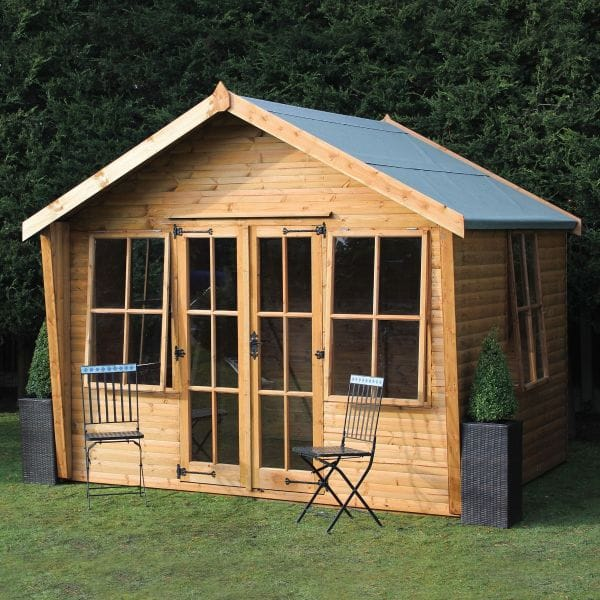 Image of 12' x 10' (3.66x3.05m) Traditional Wychwood Wooden Summerhouse