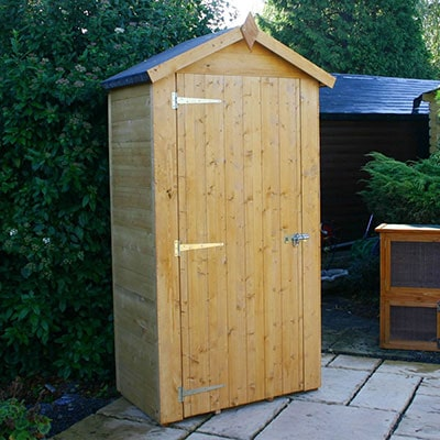a 3x2 wooden sentry shed with an apex roof