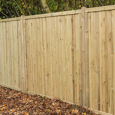 A wooden garden fence, designed to reduce noise pollution.