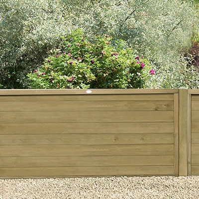 A 6x3 tongue and groove wooden fence panel