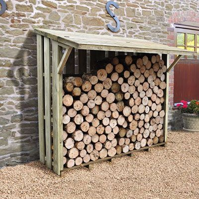 a large, slimline easy-access woodstore