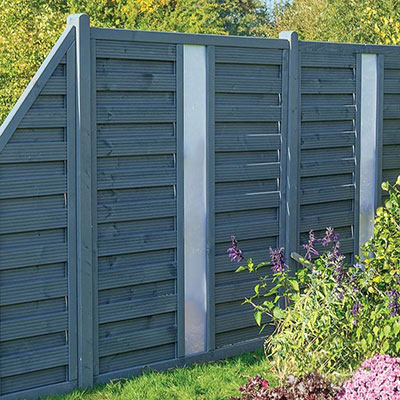 grey decorative fencing, featuring opaque infills