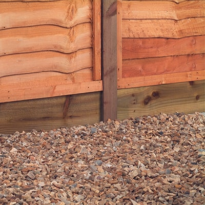 Fence panels, fence post and gravel board