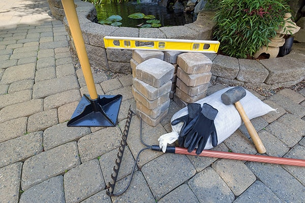 tools to lay a patio
