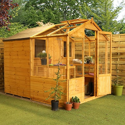 Windsor 8x6 Greenhouse Combi Shed