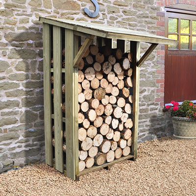 Easy access Sherwood log store