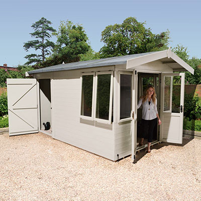 12x8 Champion Summer House with Rear Storage