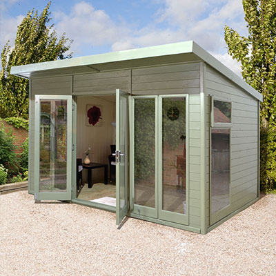 Champion Fully Glazed Pent Garden Room