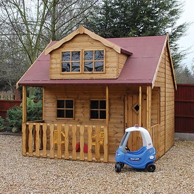 10x10 Traditional 2 Storey Playhouse With Veranda Shedstore