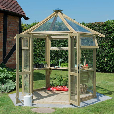 Forest Hexagonal Greenhouse with Glass
