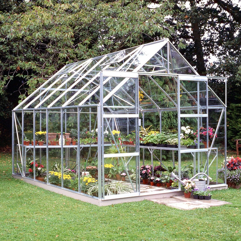Halls Magnum 8x12 Silver Greenhouse with double doors