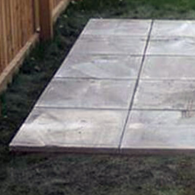 paving slabs as a greenhouse base