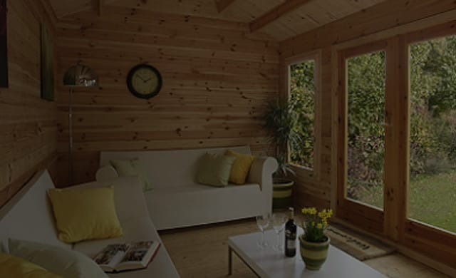 Garden rooms for log cabins