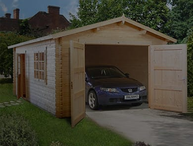 View Our Range of Log Cabin Garages