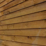 Wooden shed wall