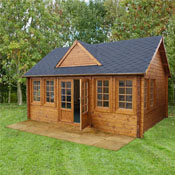 5.5x4m Charentes Log Cabin with windows