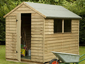 Shed in a garden