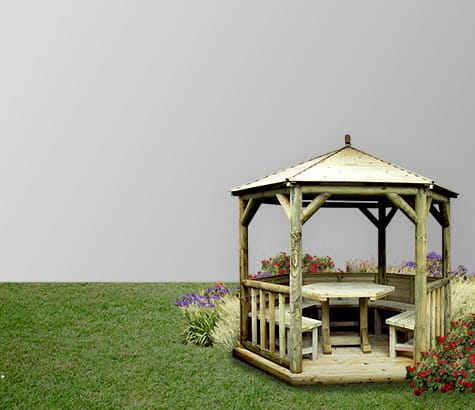wooden <br> gazebos