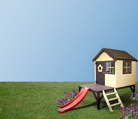 slide <br> playhouses