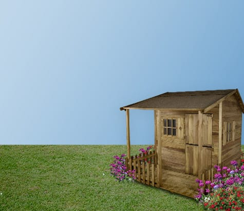wooden <br> playhouses